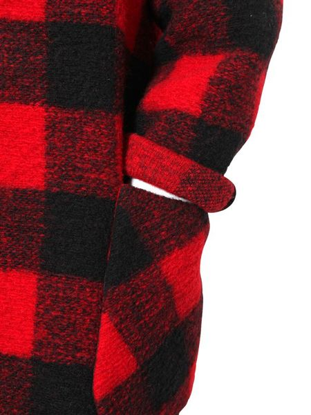 etoile isabel marant plaid wool flannel coat in red for. Black Bedroom Furniture Sets. Home Design Ideas