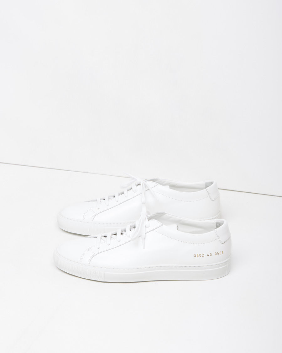 common projects white original achilles low top sneakers for men lyst. Black Bedroom Furniture Sets. Home Design Ideas