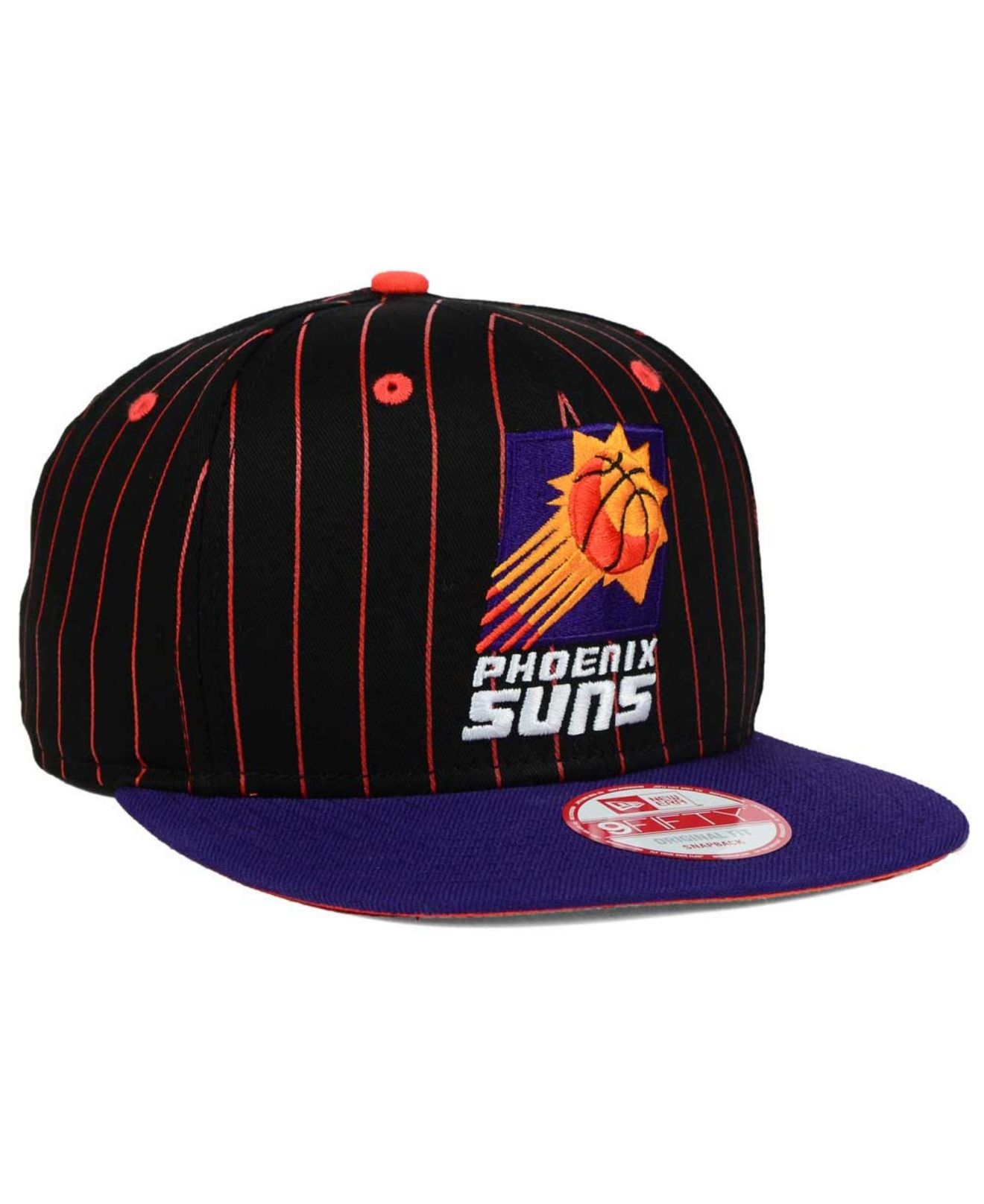 more photos 55f30 e9843 KTZ Phoenix Suns Vintage Pinstripe 9fifty Snapback Cap in Black for ...