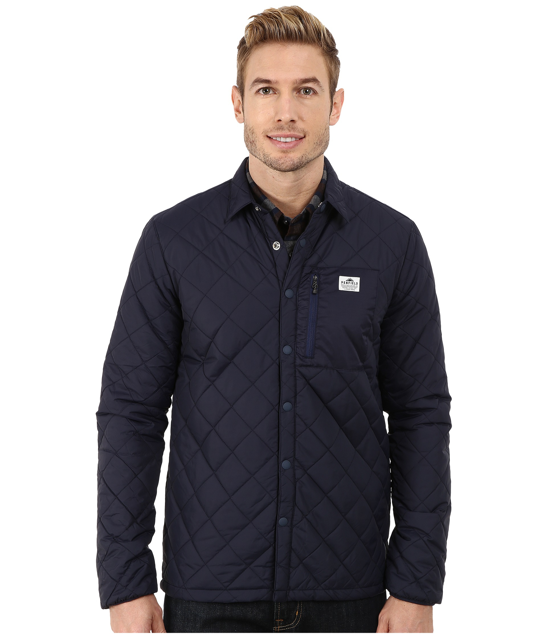 Penfield Courtland Quilted Shirt Jacket in Blue for Men | Lyst