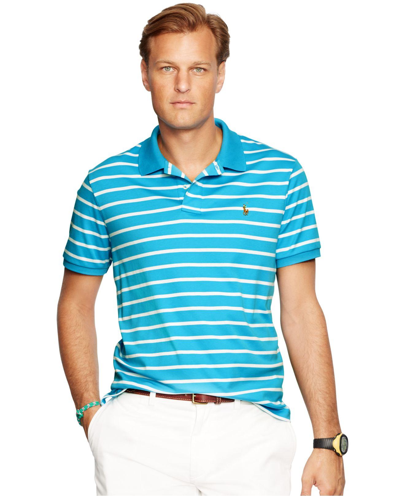 6ec89b81 Polo Ralph Lauren Big & Tall Striped Pima Soft-touch Polo Shirt in ...
