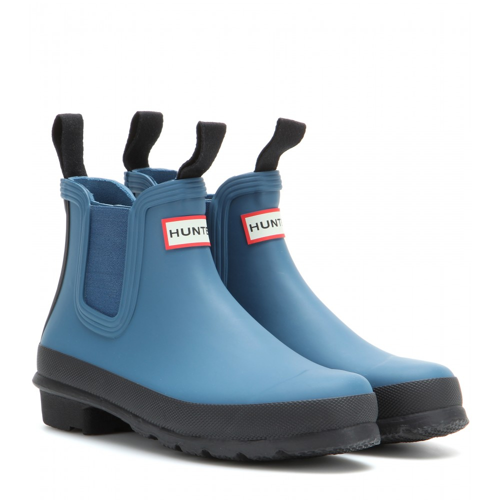 lyst hunter original chelsea rubber boots in blue. Black Bedroom Furniture Sets. Home Design Ideas