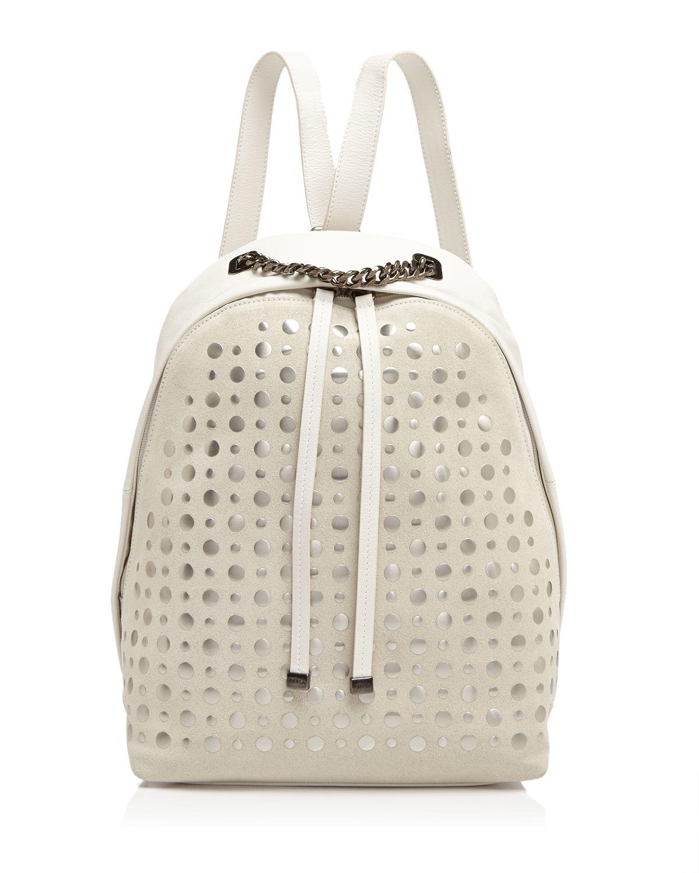 Furla Backpack - Spy Bag Small Grommet in White | Lyst