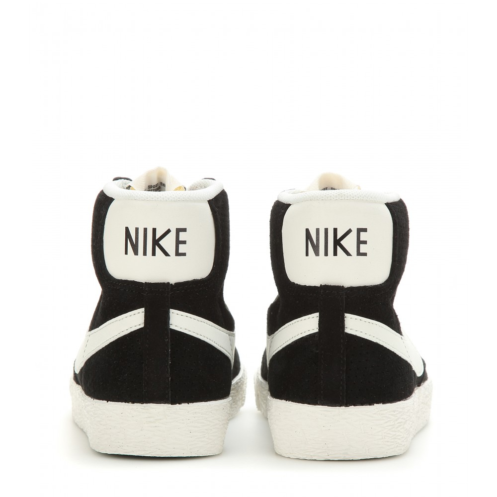 12d08830c2cd store lyst nike blazer mid vintage suede high top sneakers in black a5b74  73b8f