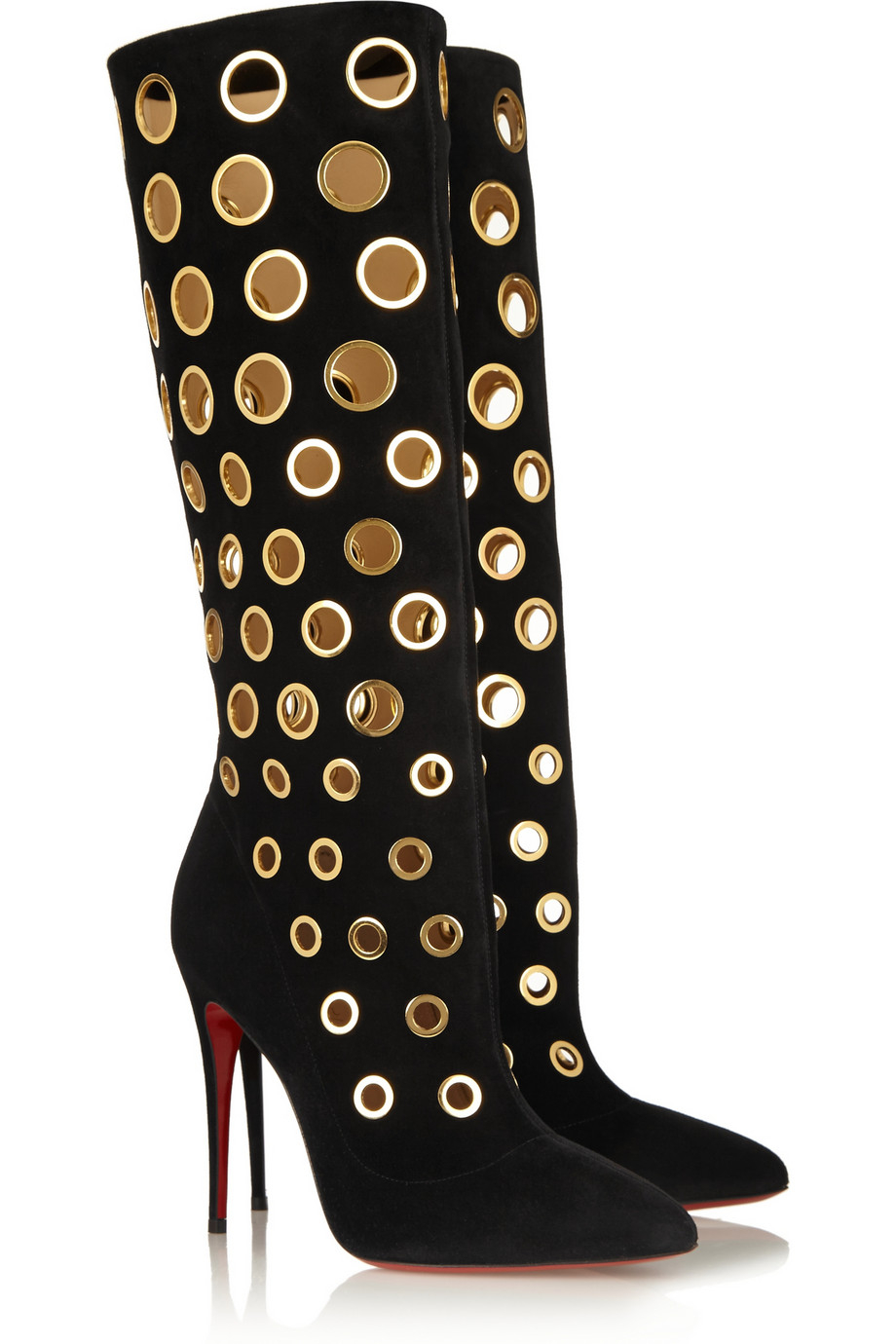 christian louboutin bellissima suede booties