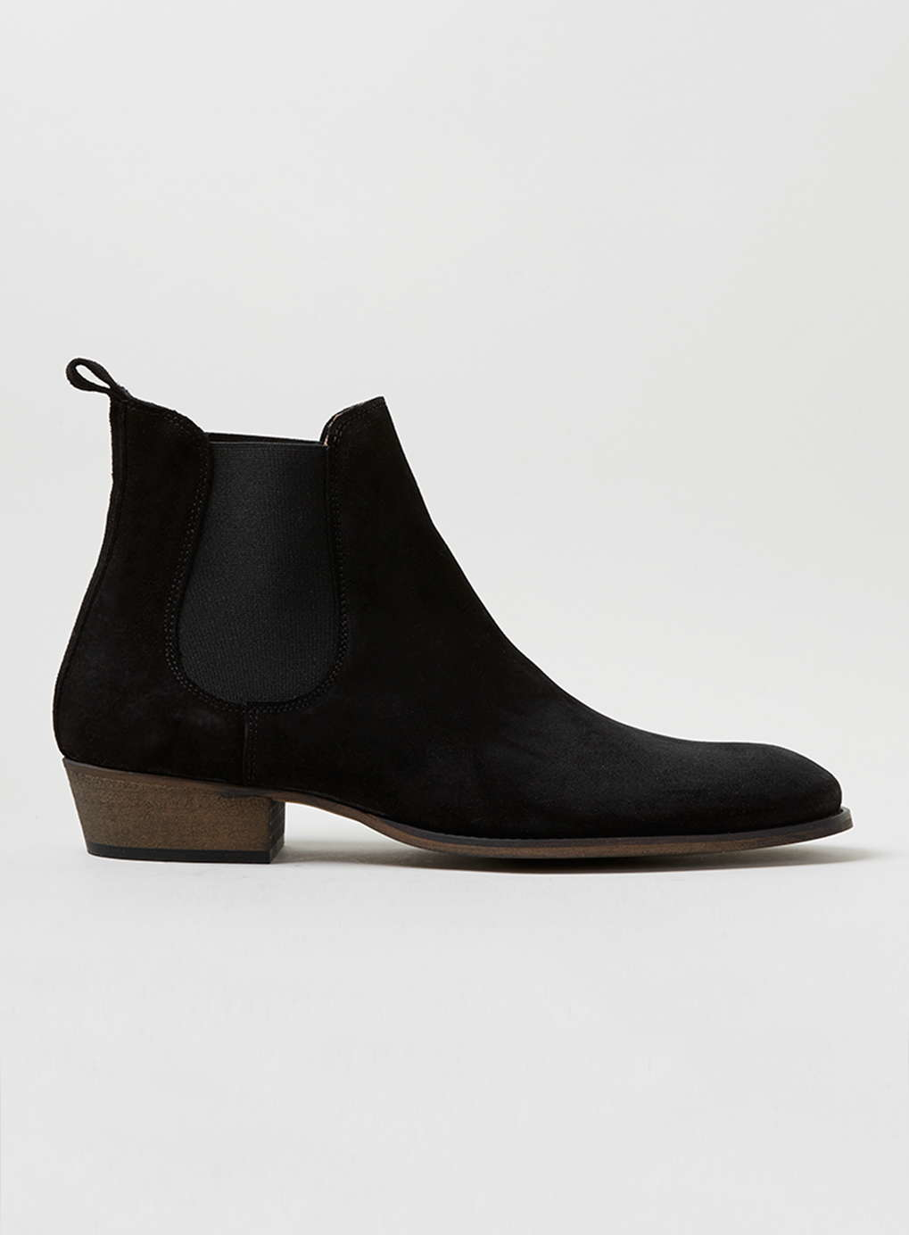 topman black suede chelsea boots in black for men lyst. Black Bedroom Furniture Sets. Home Design Ideas