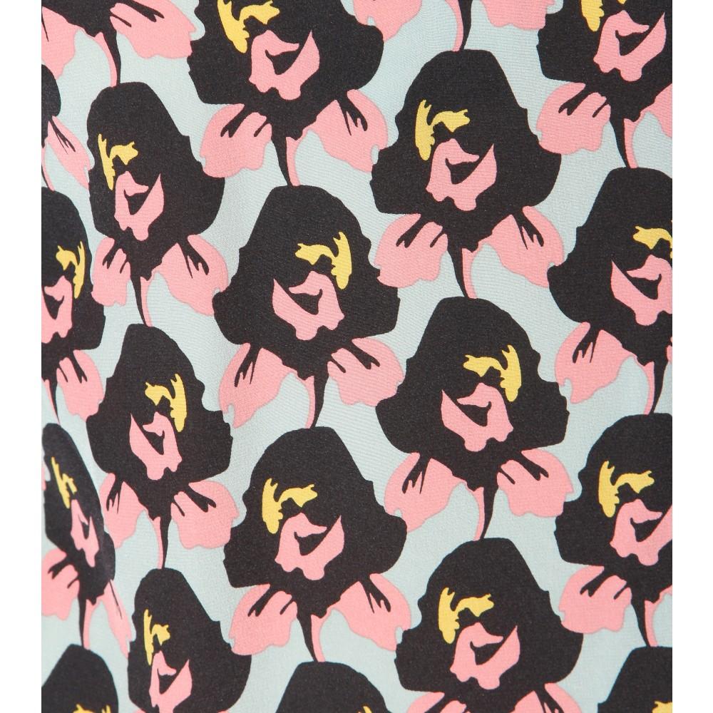 dorothee schumacher radical flower silk blouse in pink lyst. Black Bedroom Furniture Sets. Home Design Ideas