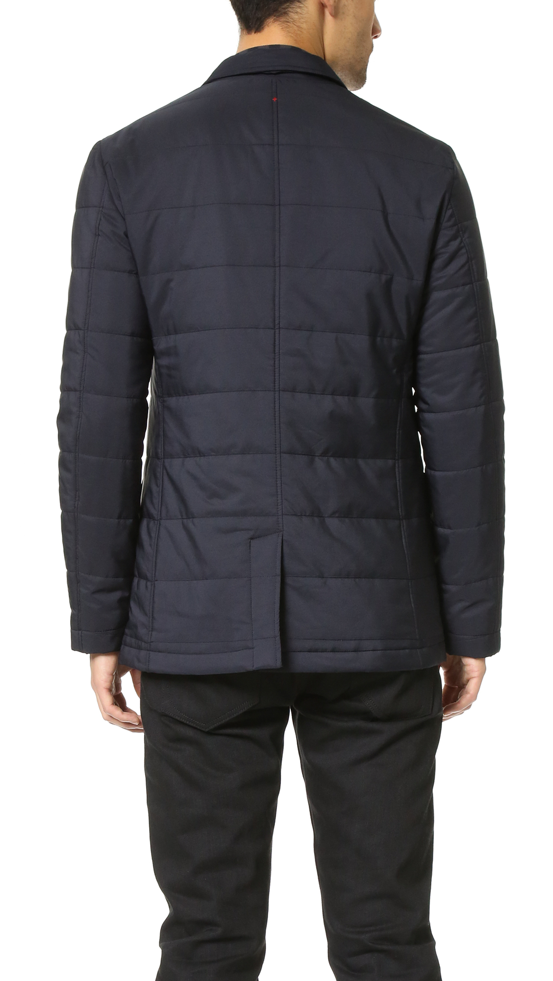 Apolis Synthetic Quilted Blazer in Navy (Blue) for Men