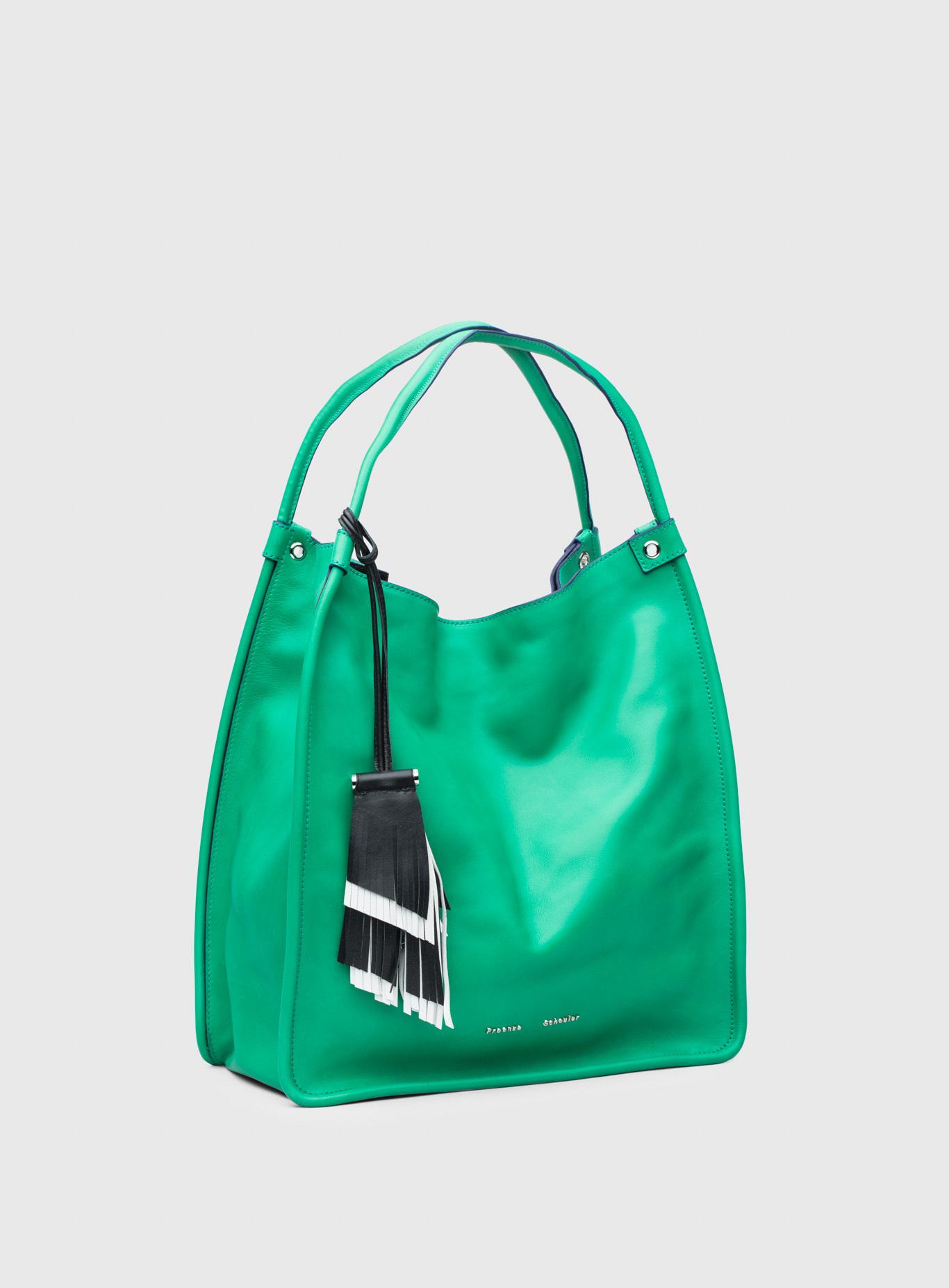 Proenza Schouler Leather Medium Tote in Green