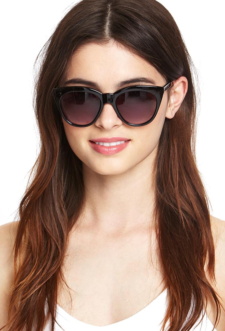 9f8383038ff Lyst - Forever 21 Mod Cat-eye Sunglasses in Black