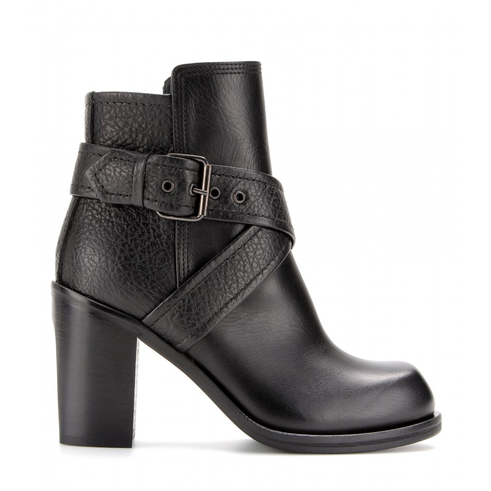 McQ Nazrul Leather Ankle Boots in Black