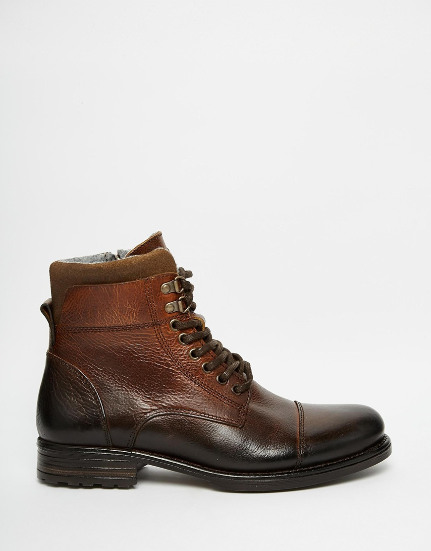Aldo Giannola Leather Boots In Brown For Men Lyst