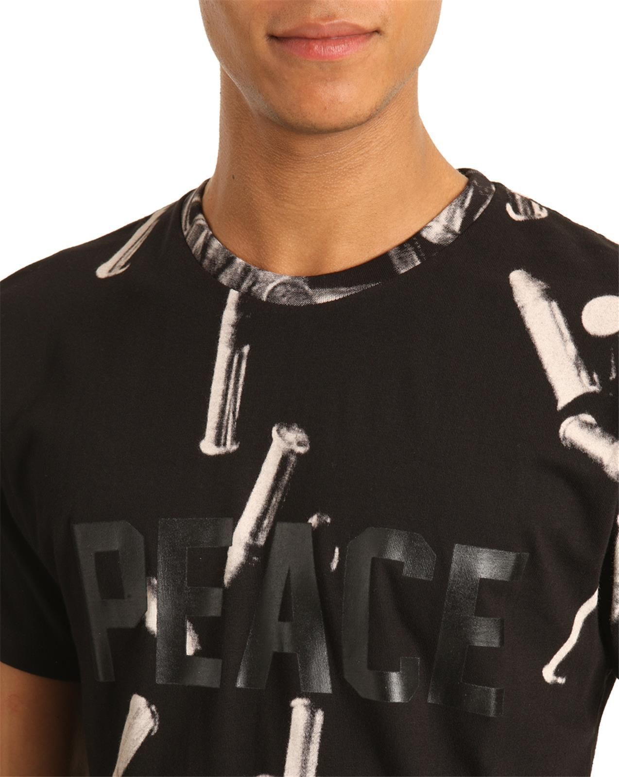 eleven paris tshirt peace bullet black in black for men lyst. Black Bedroom Furniture Sets. Home Design Ideas