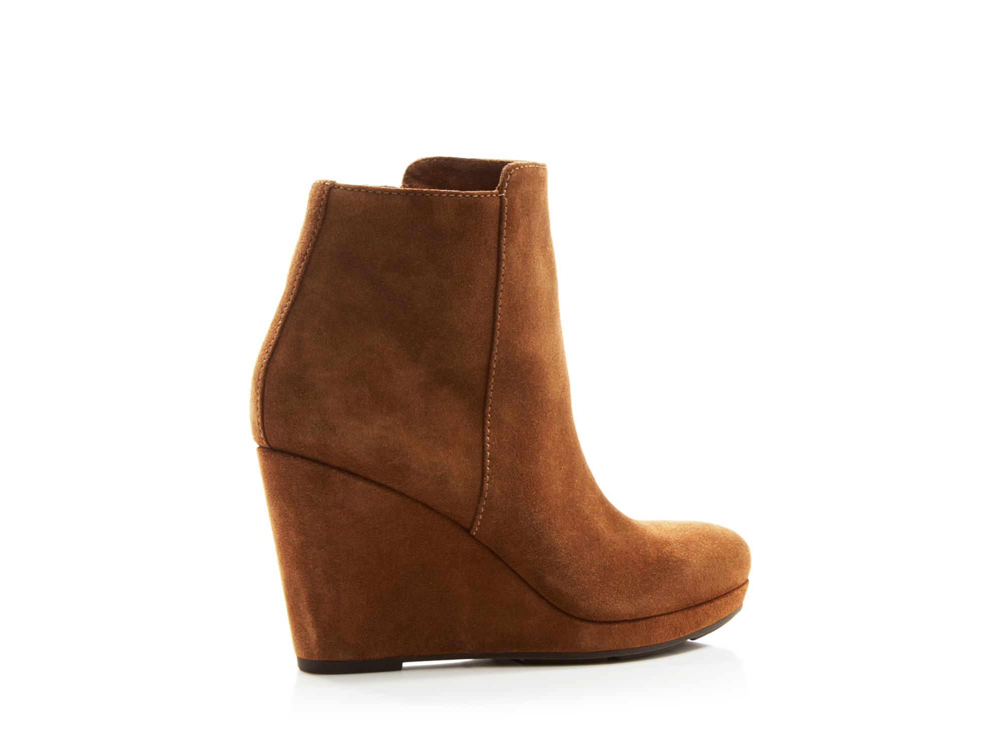 via spiga darina suede wedge boots in brown rattan lyst