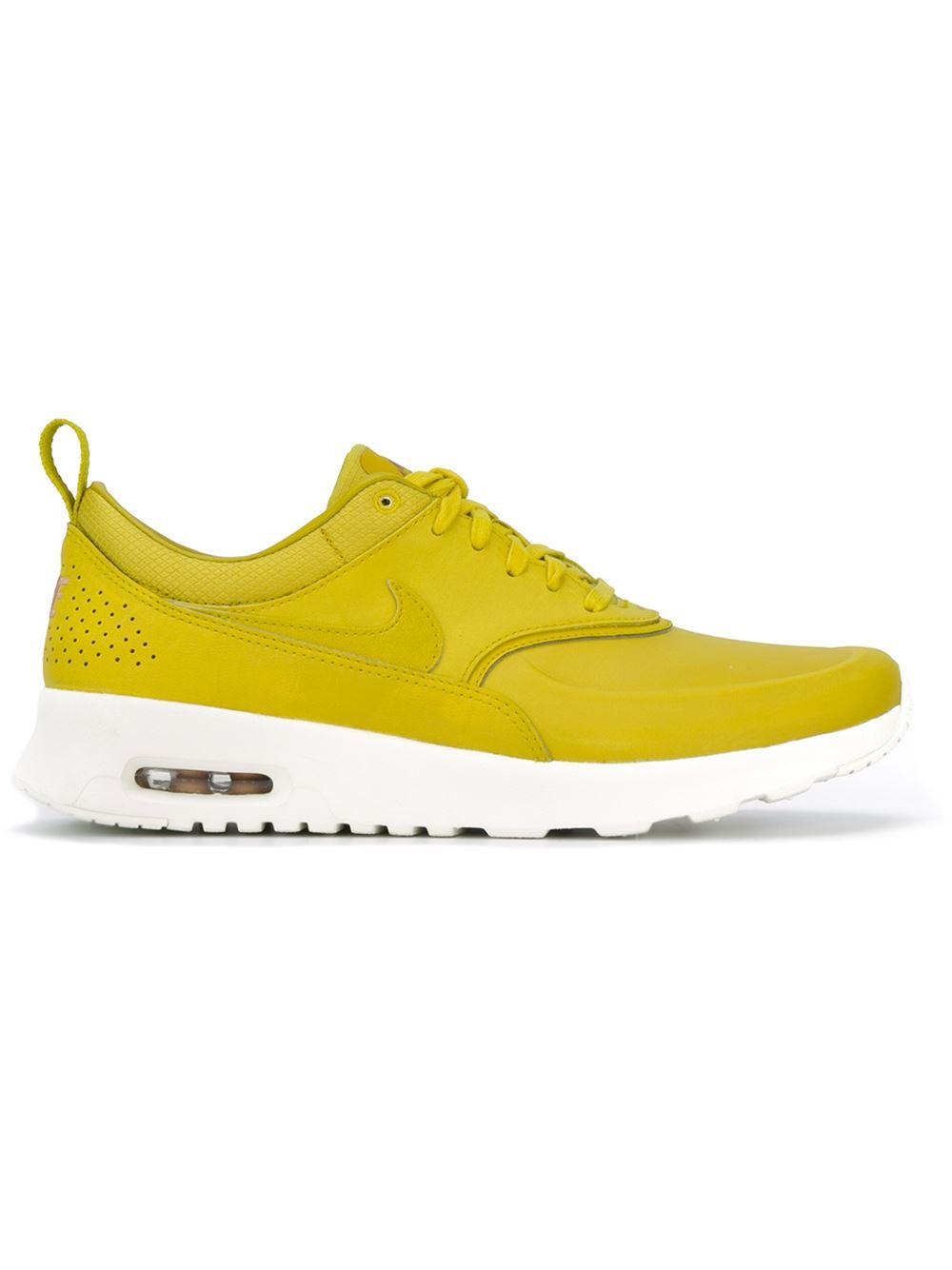 nike yellow 39 air max thea premium 39 sneakers lyst. Black Bedroom Furniture Sets. Home Design Ideas