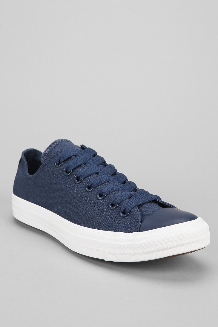 converse chuck taylor all star monochromatic lowtop mens sneaker in blue for men navy lyst. Black Bedroom Furniture Sets. Home Design Ideas