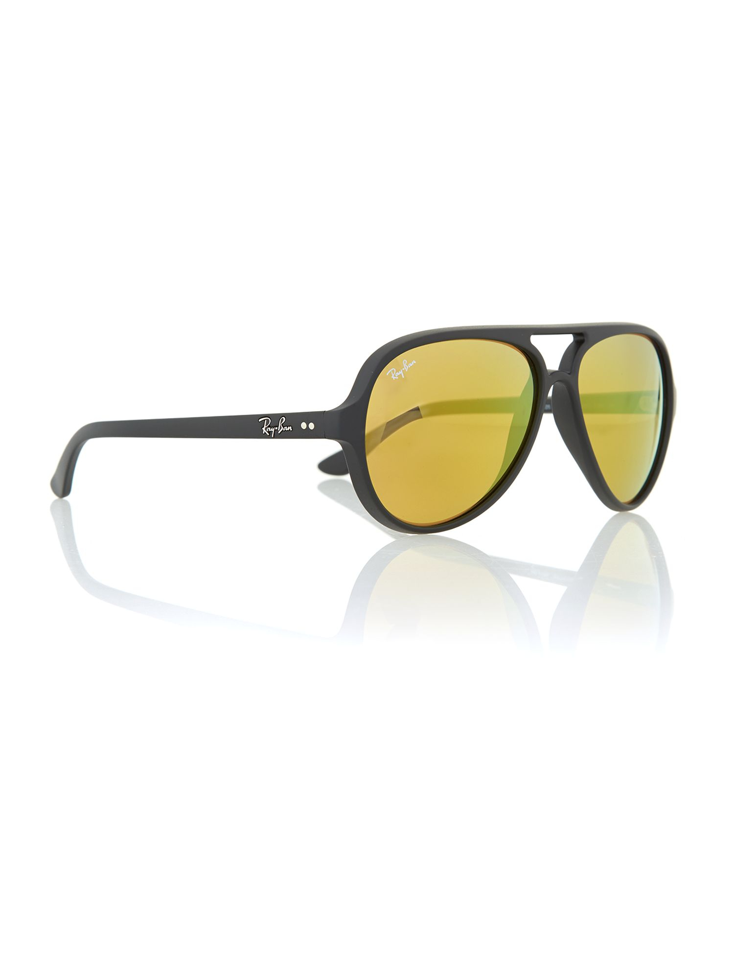 Ray-ban Mens Matte Black Aviator Sunglasses in Black for ...