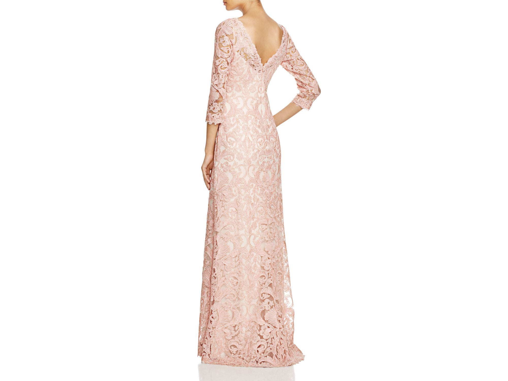 Tadashi 3 4 Sleeve Sequin Lace Gown_Other dresses_dressesss