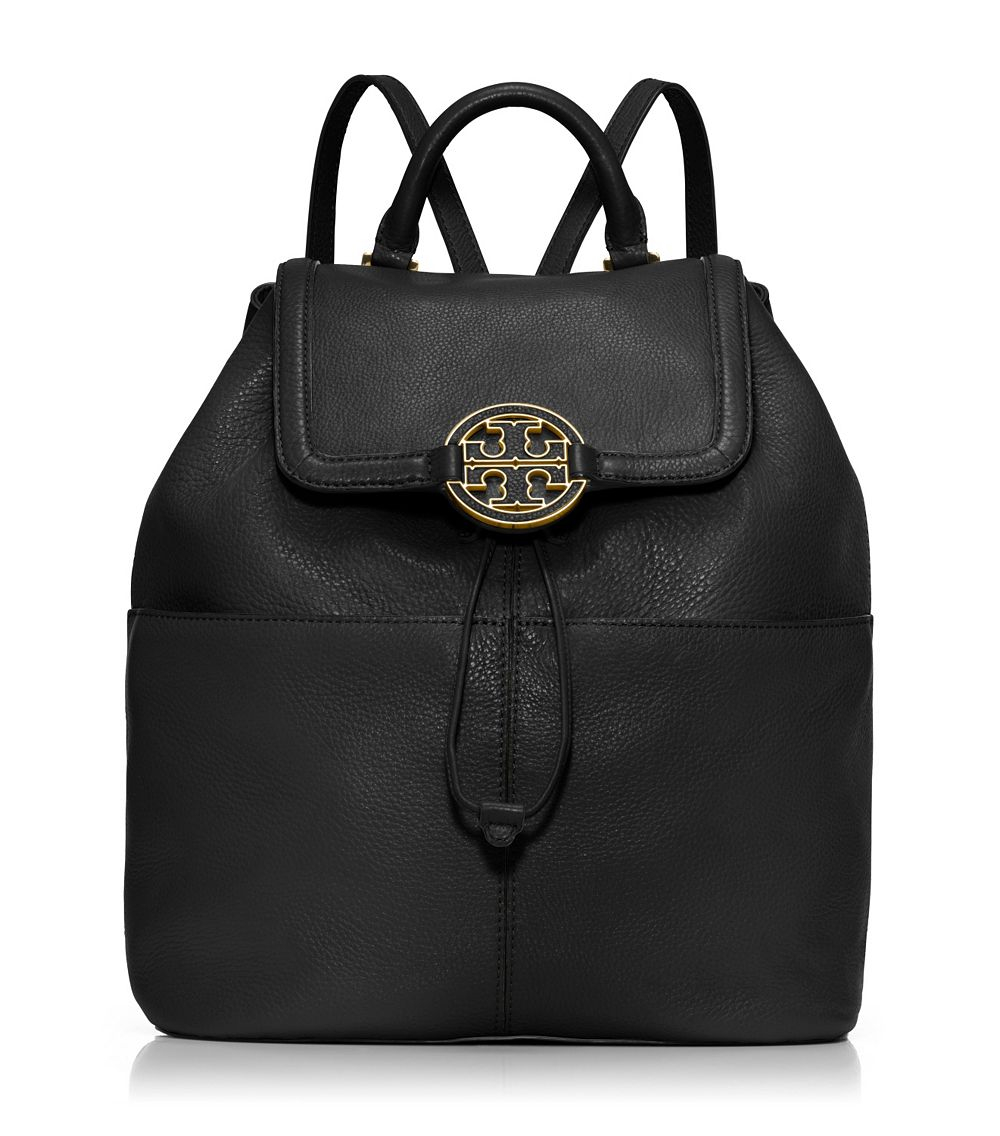 tory burch amanda medium backpack in black lyst