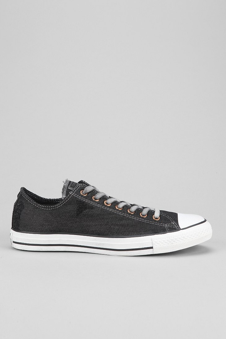 cb27f7b041a Lyst - Converse Chuck Taylor All Star Denim Lowtop Mens Sneaker in Black  for Men