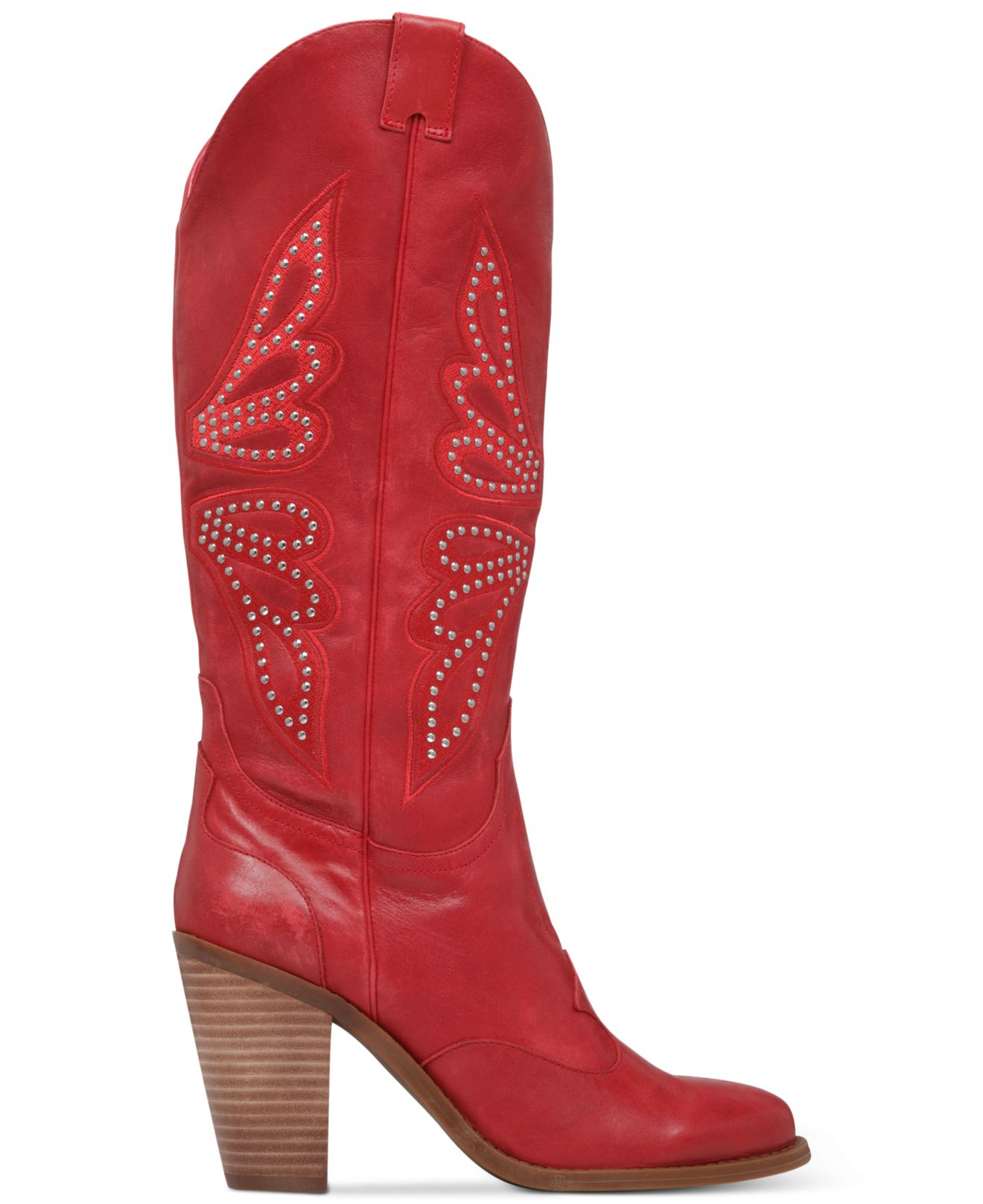 1d9e91e4fe8 Jessica Simpson Red Caralee Western Boots