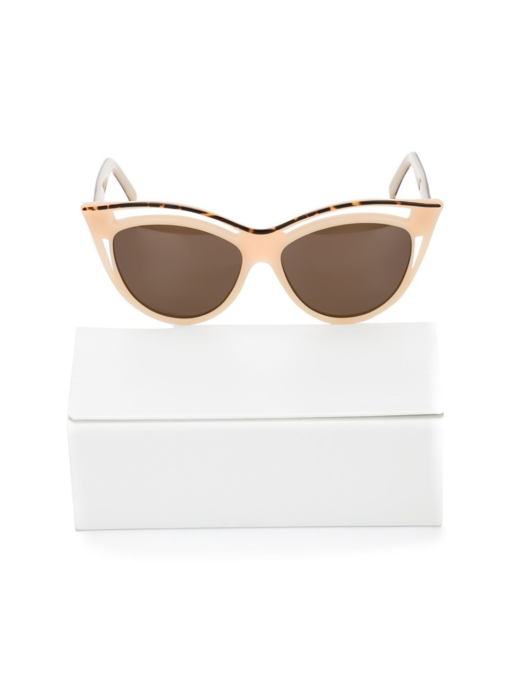Andy Wolf Cat Eye Sunglasses In Beige Nude Amp Neutrals Lyst