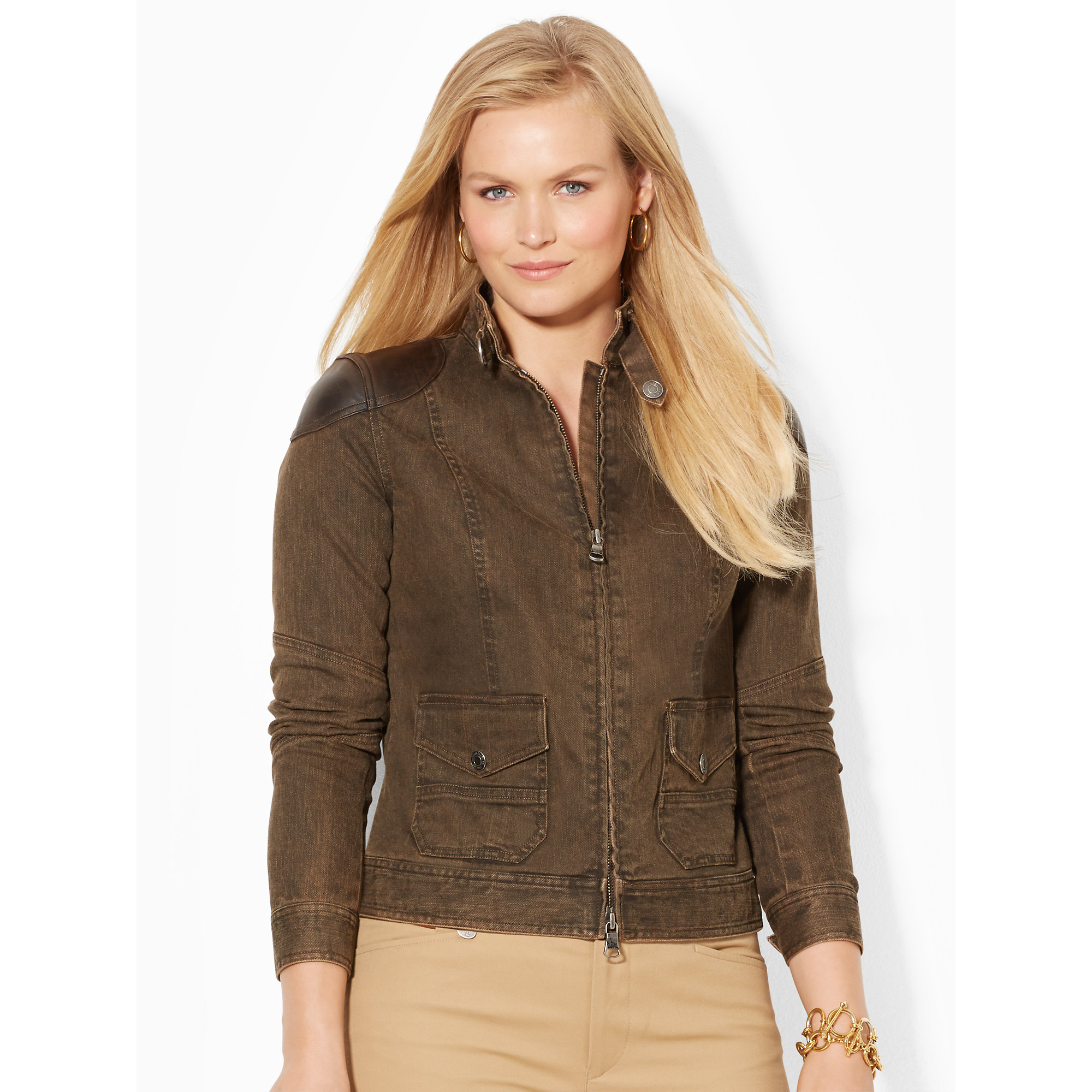 Womens Brown Denim Jacket Jackets Review