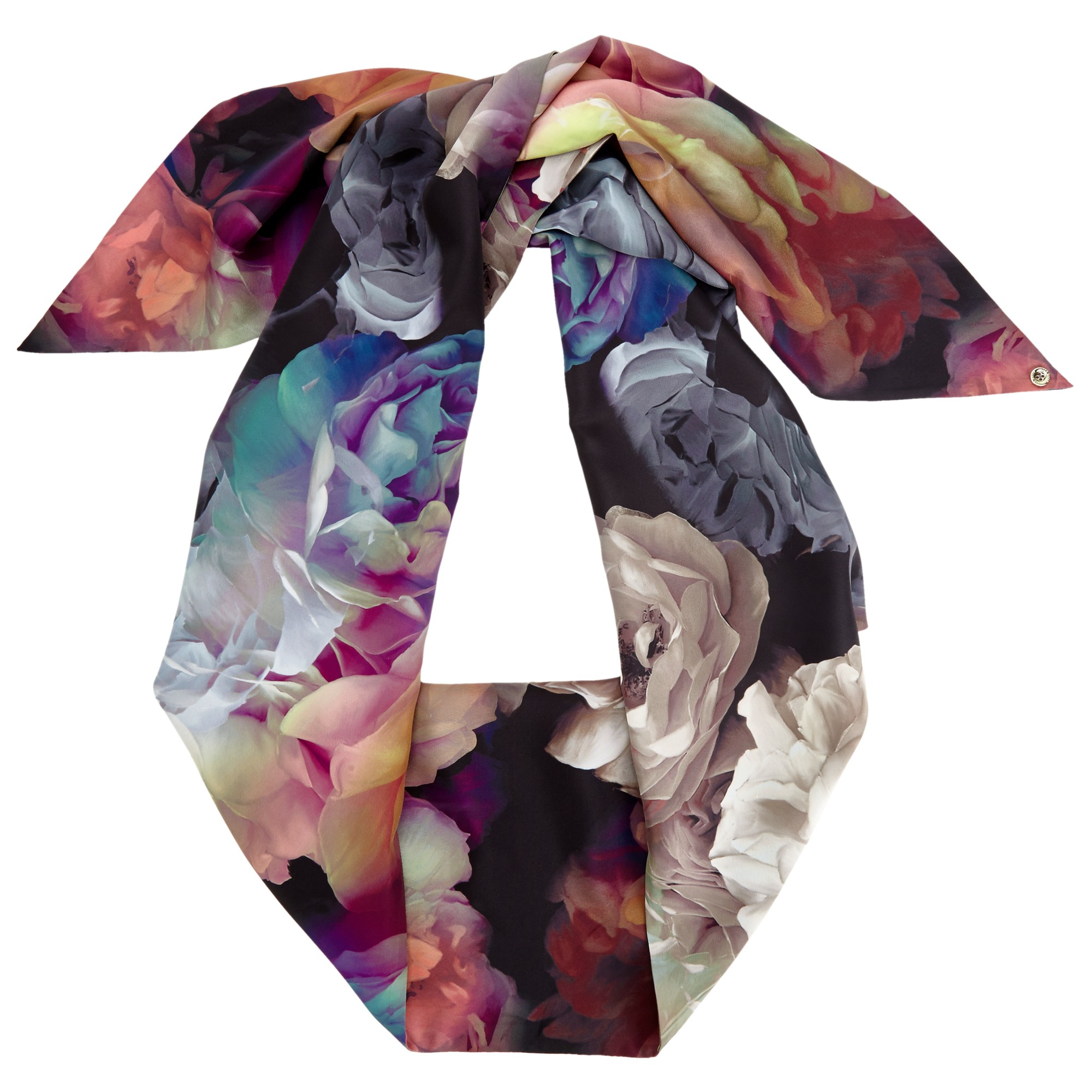 0a6571885 Ted Baker Bloomey Technicolour Bloom Skinny Scarf - Lyst