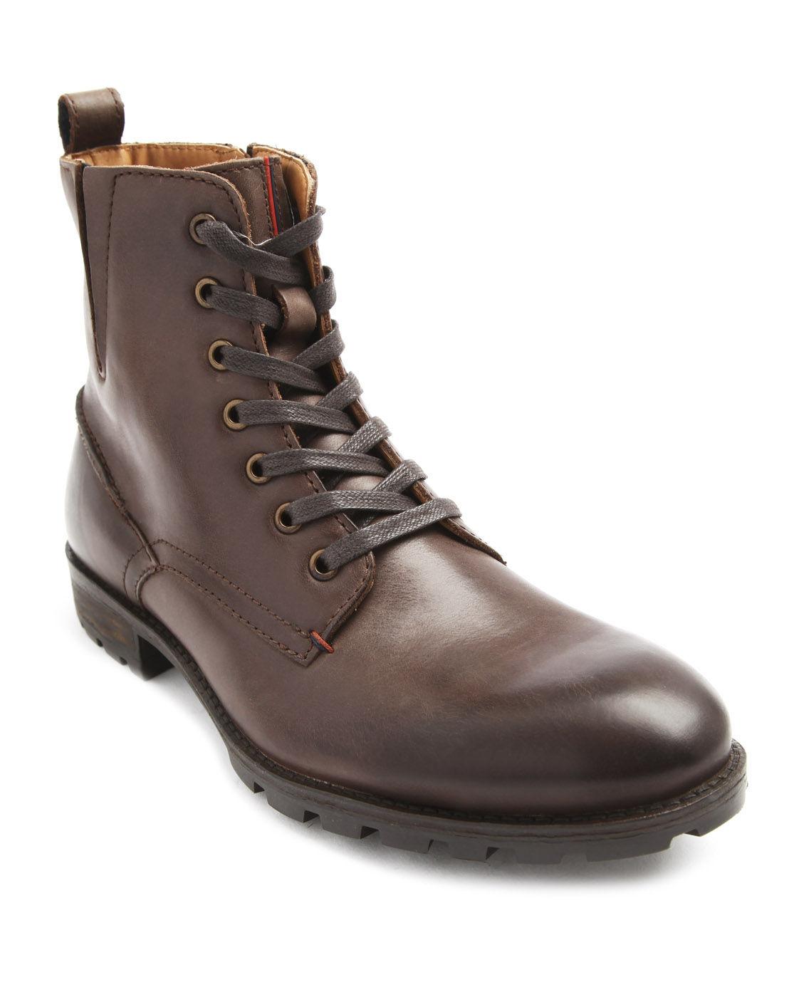 tommy hilfiger darren brown zipped boots in brown for men. Black Bedroom Furniture Sets. Home Design Ideas