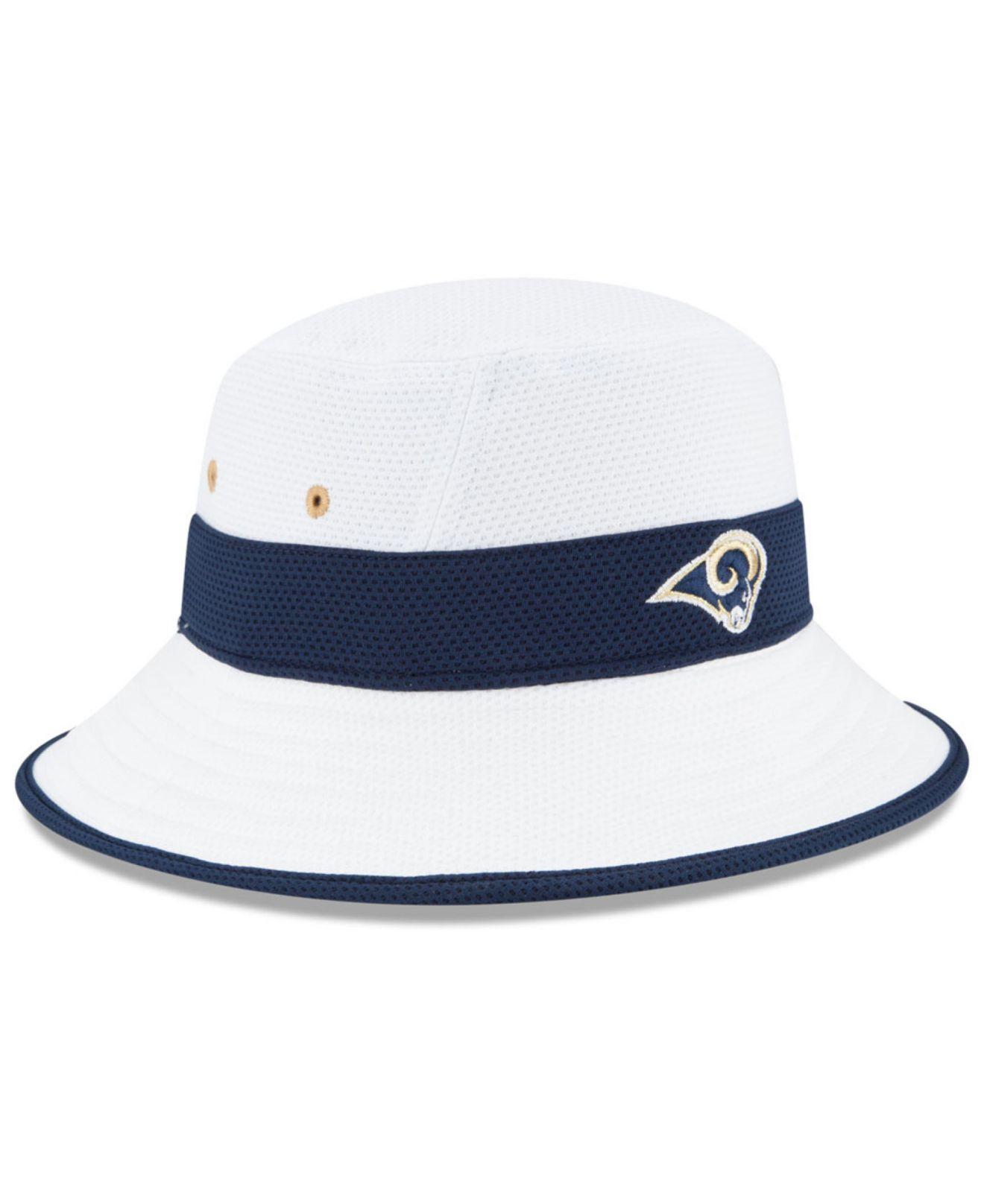 e24b039176d Lyst - KTZ Los Angeles Rams Training Camp Reverse Bucket Hat in ...