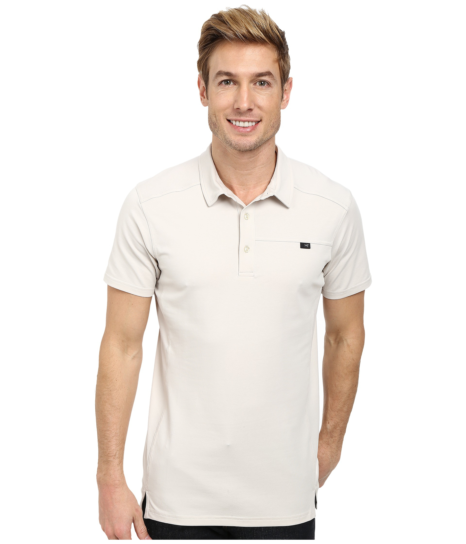8e57d065a9 Arc'teryx Captive Polo S/S in Natural for Men - Lyst