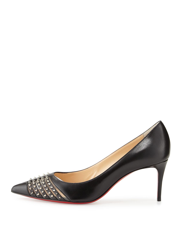 meet 65858 7e06d czech christian louboutin shoes kitten heel court 72c1a e1565