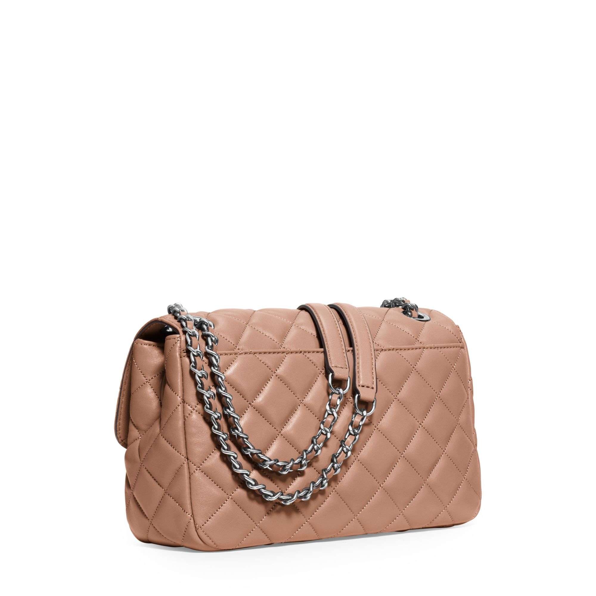 21a148285f Lyst - Michael Kors Sloan Large Quilted-leather Shoulder Bag in Pink