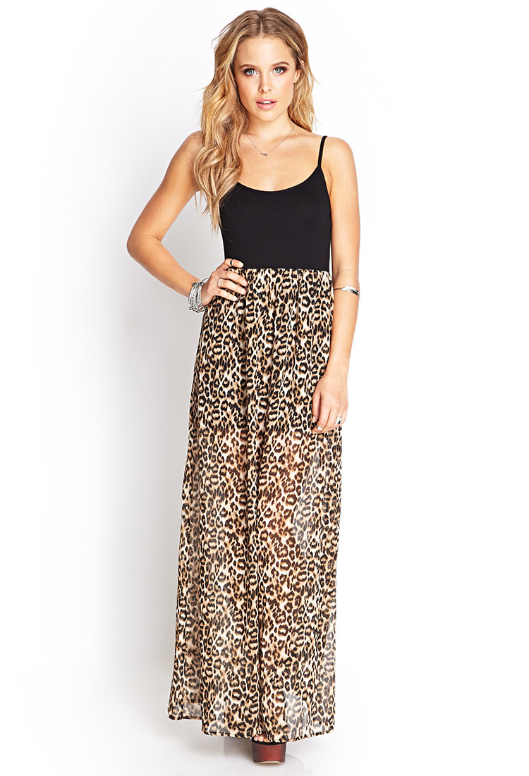 Forever 21 Leopard Print Maxi Dress  Lyst