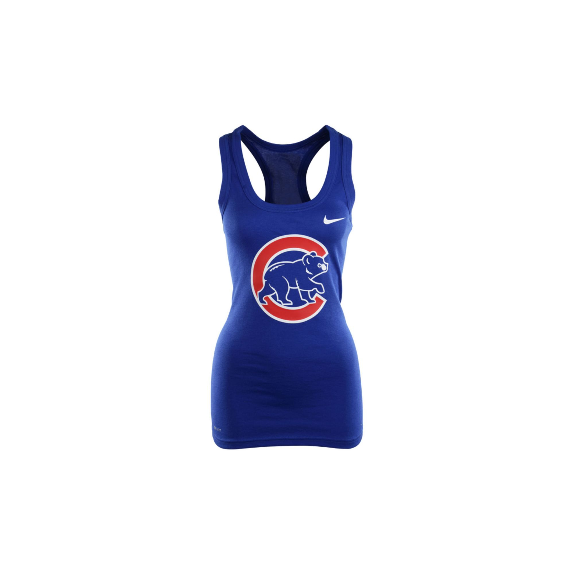 b94293045e16cd Lyst - Nike Womens Chicago Cubs Drifit Racerback Tank Top in Blue