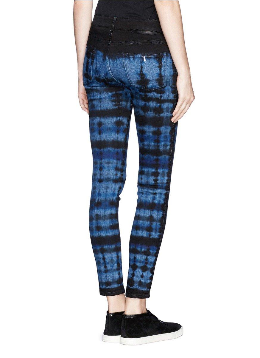 Stella mccartney Tie Dye Cotton Jeans in Blue