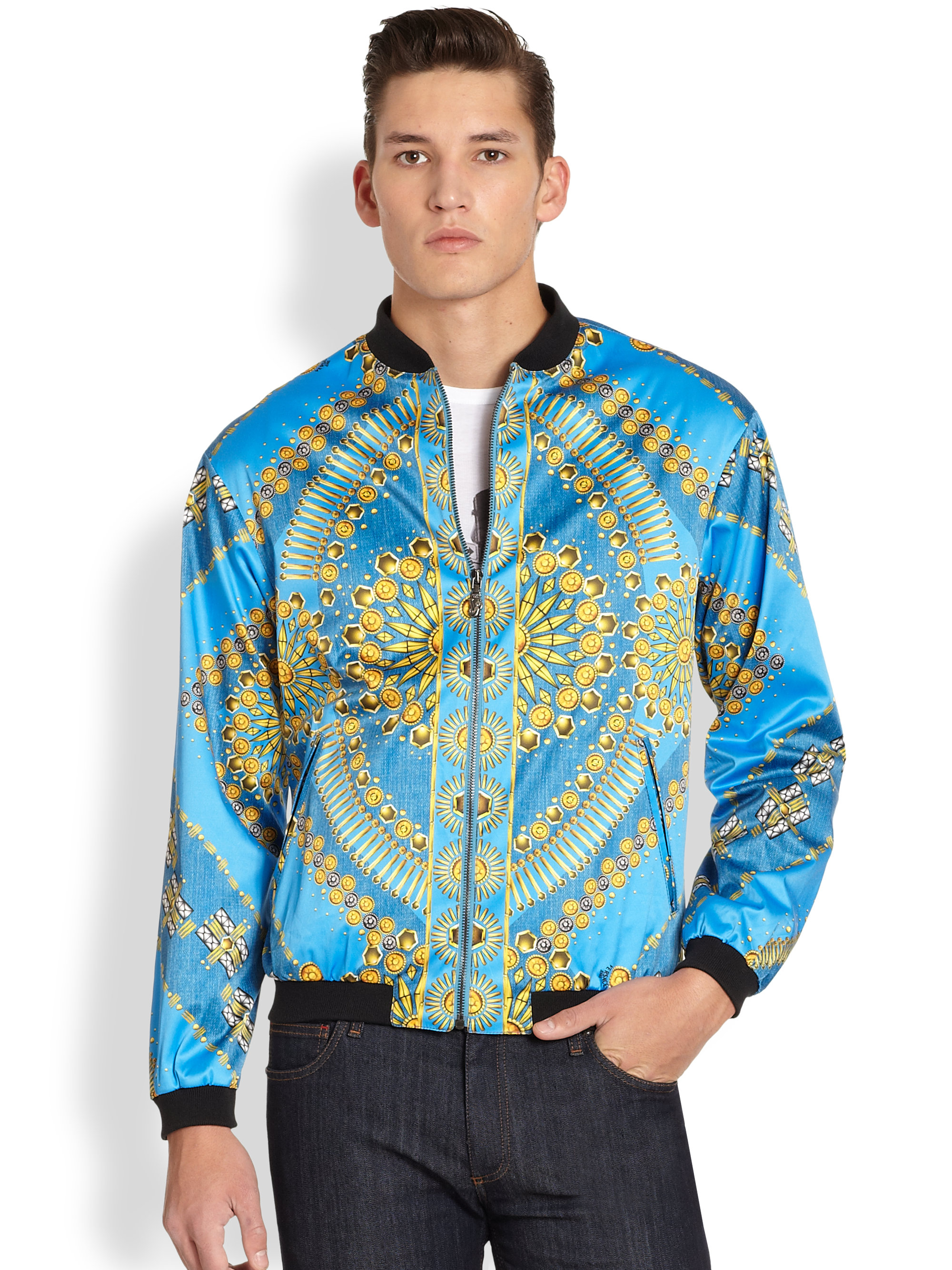 Lyst Versace Jeans Printed Blouson Jacket For Men
