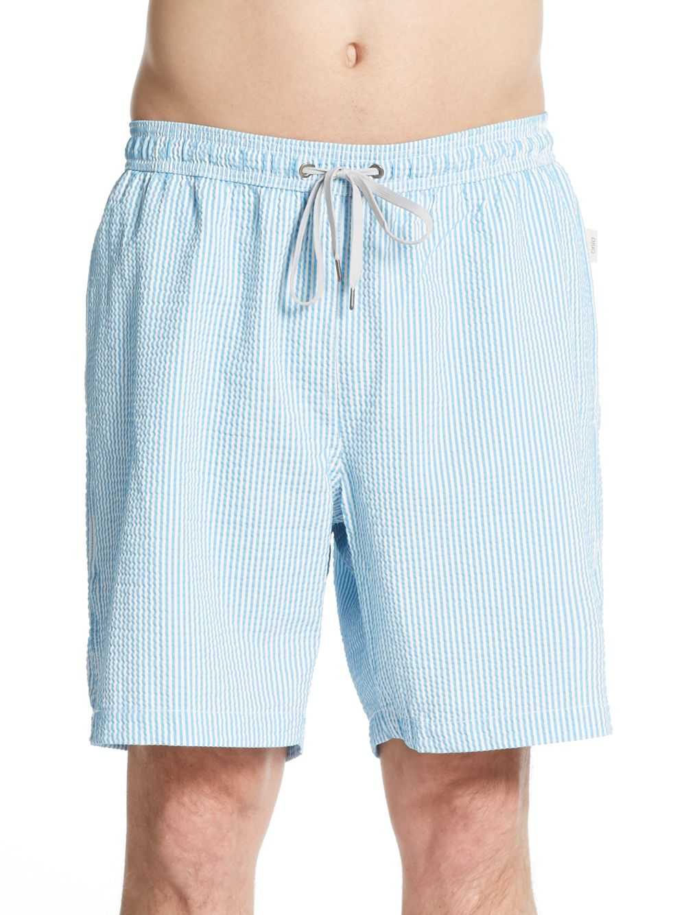 5a1dcc9563 Lyst - Onia Charles Striped Seersucker Swim Trunks in Blue for Men