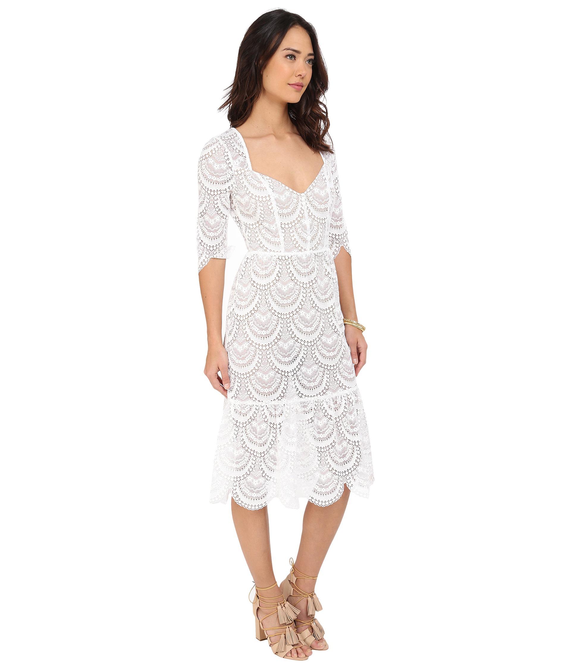 31d2ebce87c22 For Love & Lemons Rosalita Dress in White - Lyst