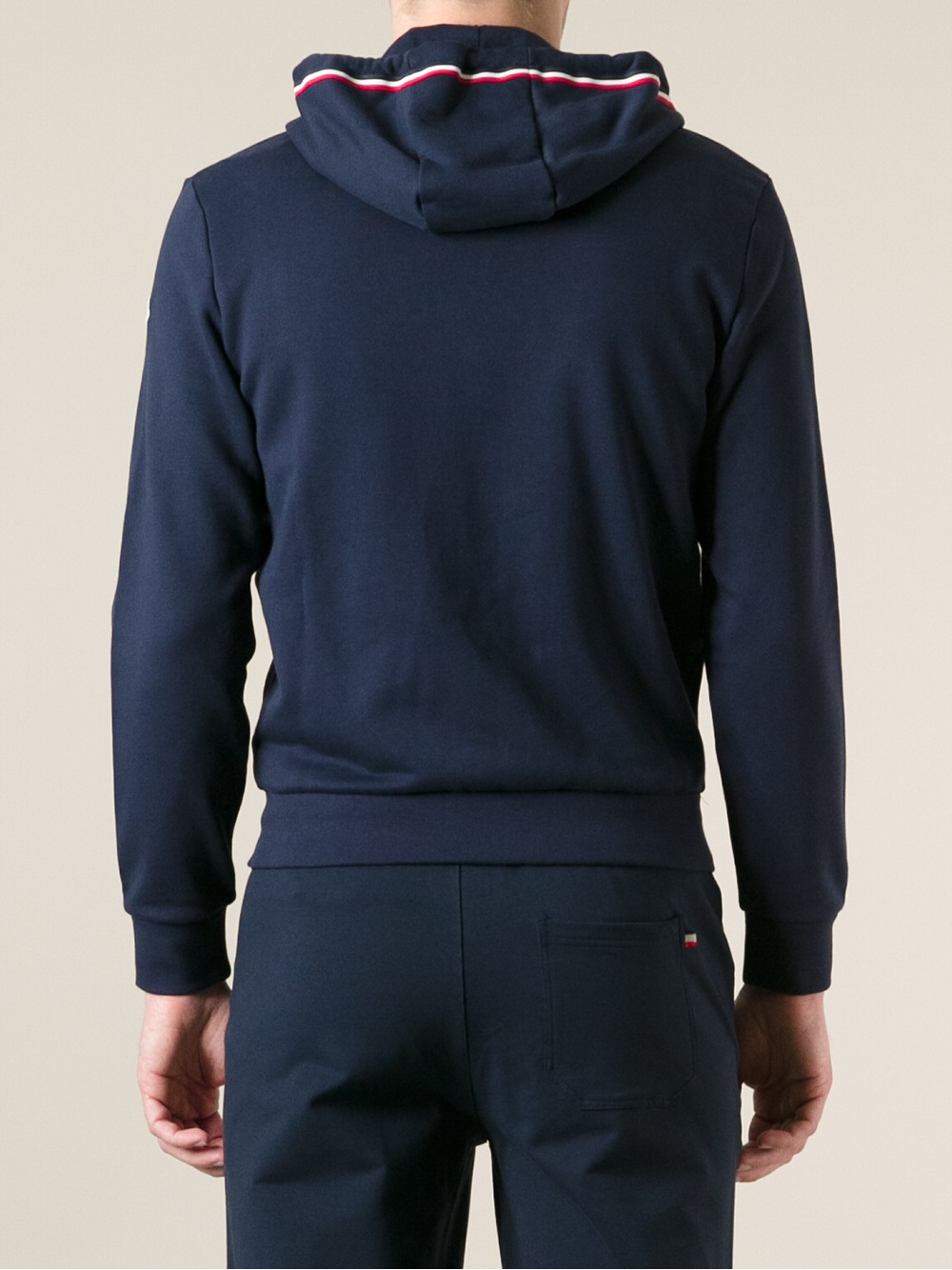 Lyst Moncler Drawstring Hoodie In Blue For Men