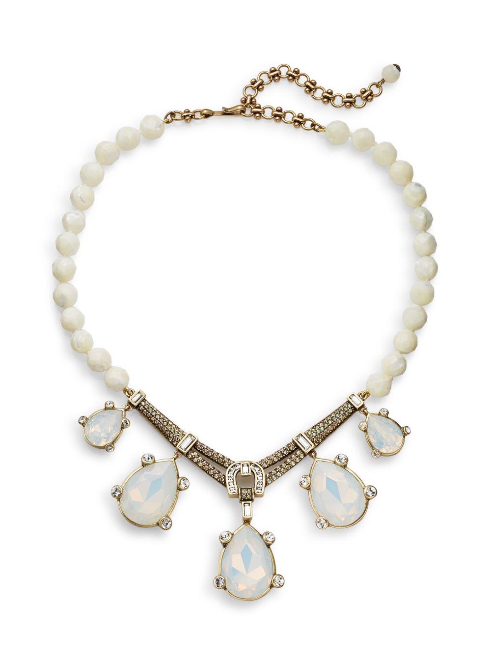 6425b267c0320 Heidi Daus St. Bart's Rocks Teardrop Necklace in Metallic - Lyst