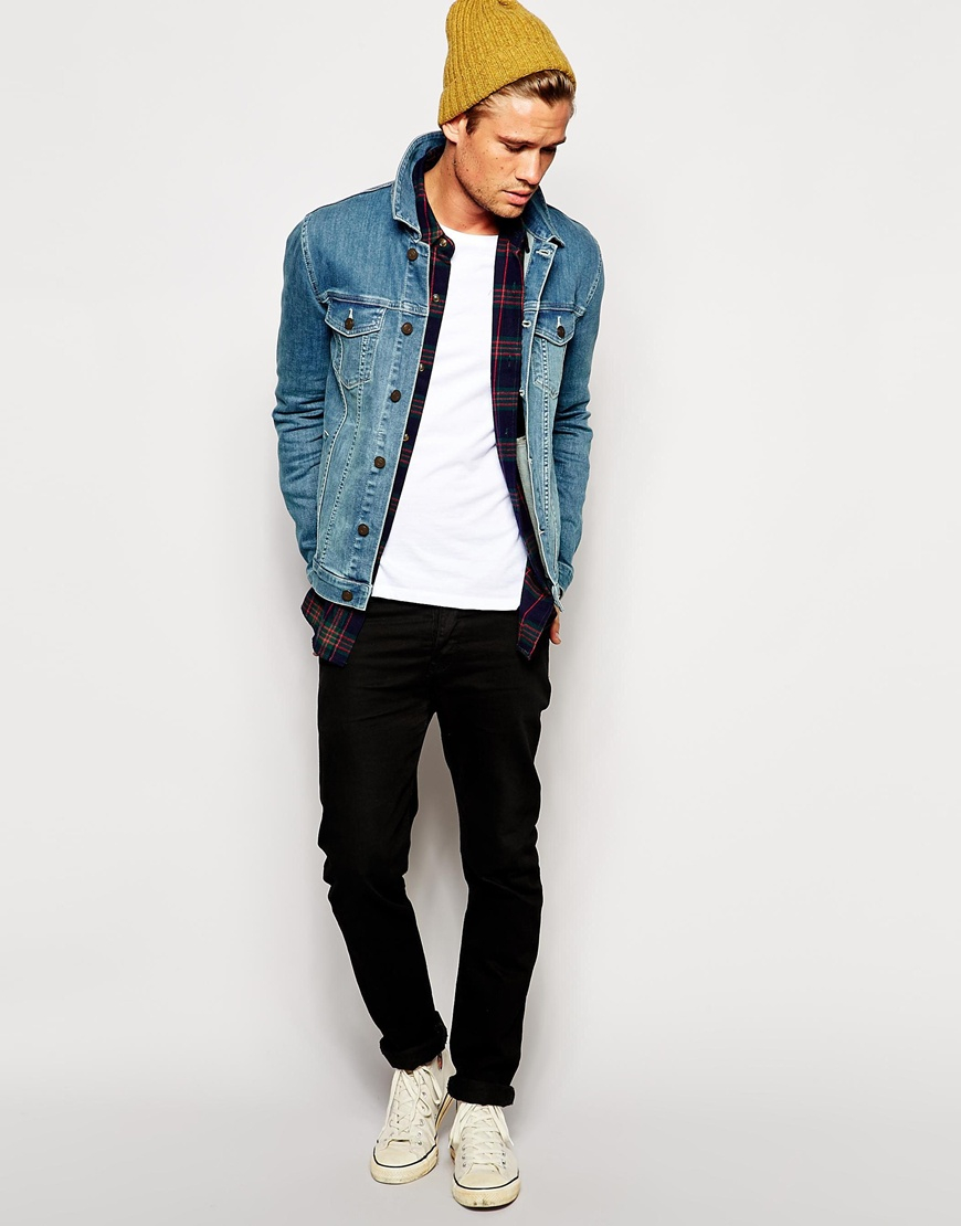 Asos Denim Jacket In Skinny Fit in Blue for Men | Lyst