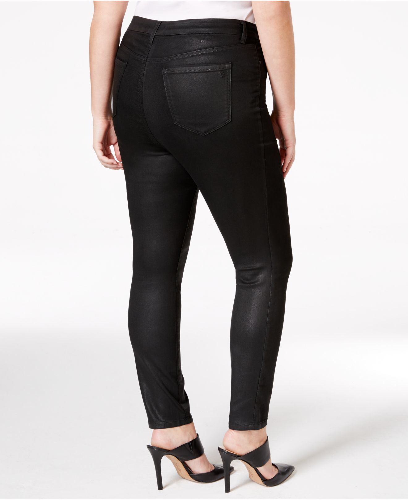 Maternity 5 Pocket Skinny Pants - Available in Plus Sizes Product - Maternity Full Panel Super Soft Destructed Skinny Boyfriend Crop Jeans -- Available in Plus Size Product Image.