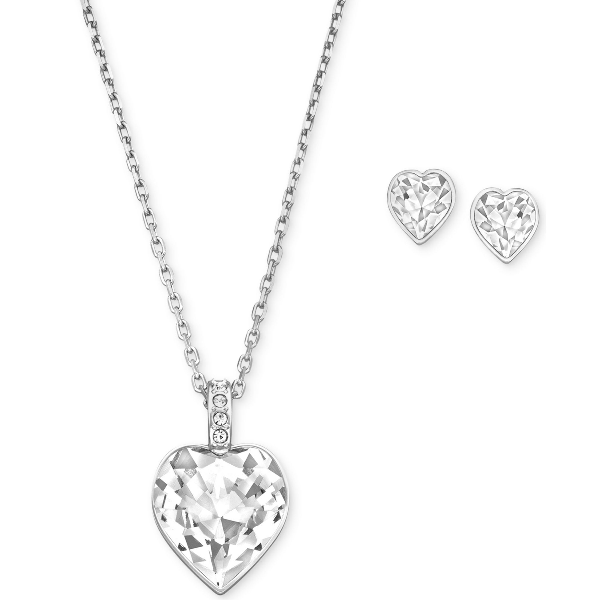lg elisa crystal boutique products bliss necklace pendant in clear gld