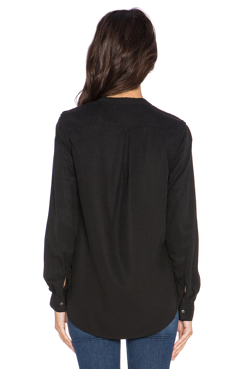Blank nyc long sleeve top in black lyst for Best dress shirts nyc