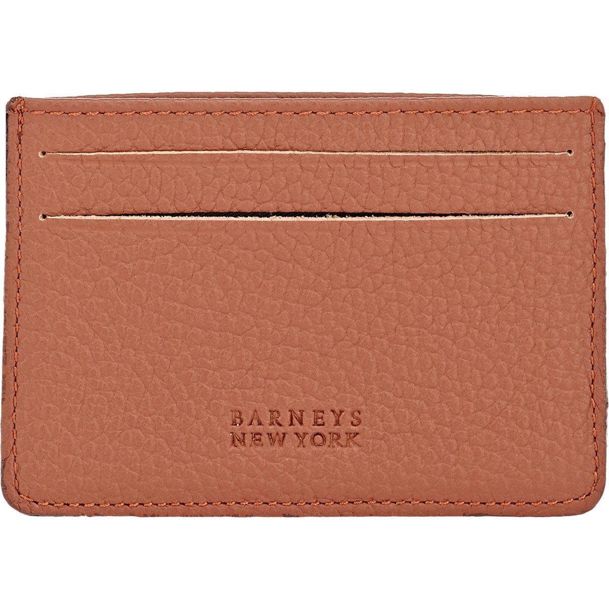 barneys new york card case in brown for men lyst. Black Bedroom Furniture Sets. Home Design Ideas