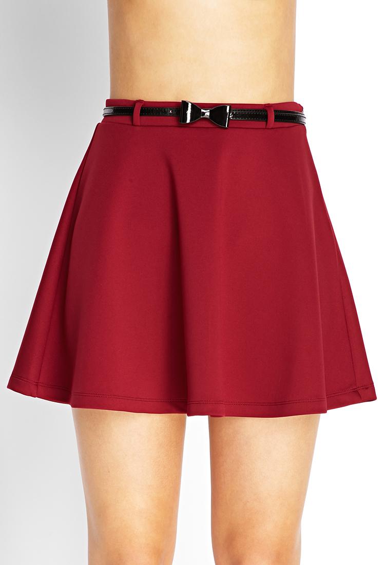 941af9f654 Forever 21 Purple Prep School Skater Skirt W/ Belt
