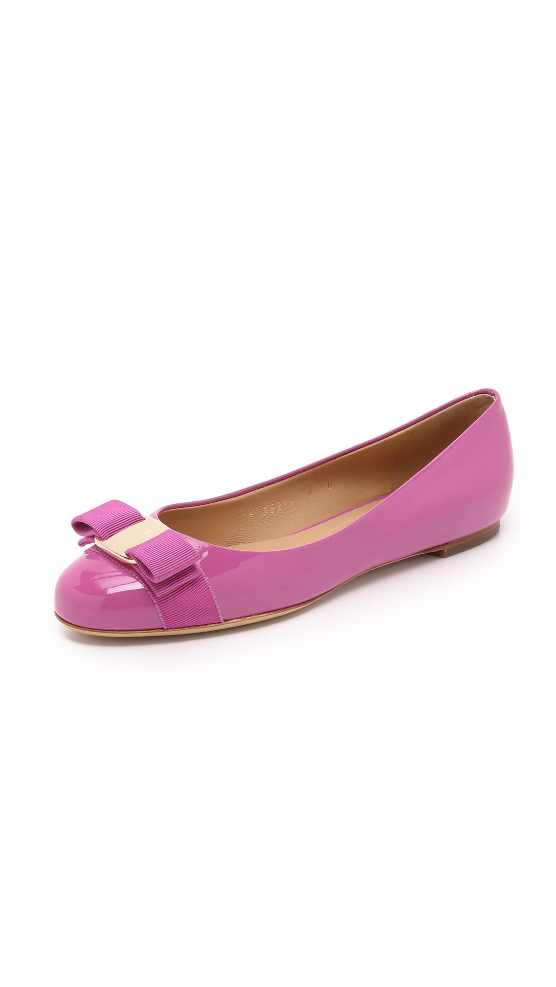 2dfd8664d917 Ferragamo Varina Flats in Purple - Lyst