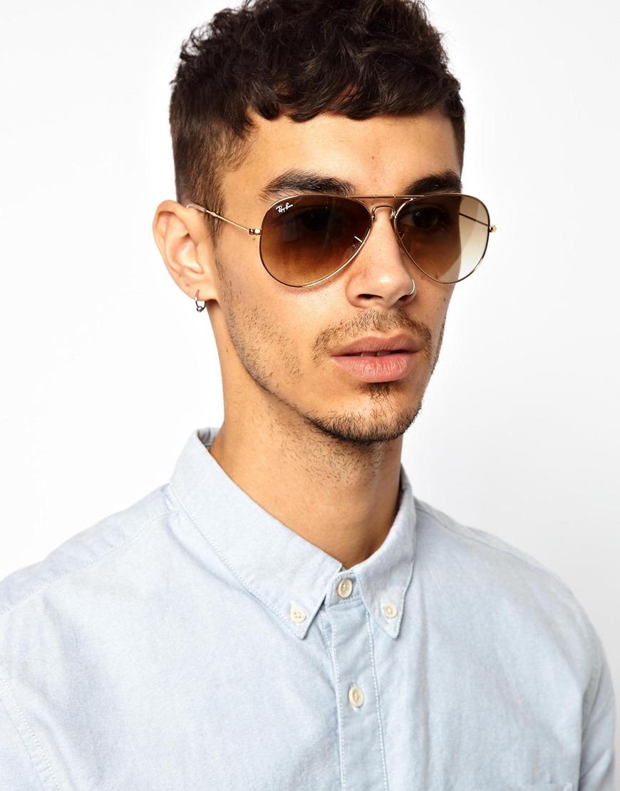 Maui Jim Warranty >> Ray-Ban Folding Aviator Sunglasses in Gold (Metallic) for ...