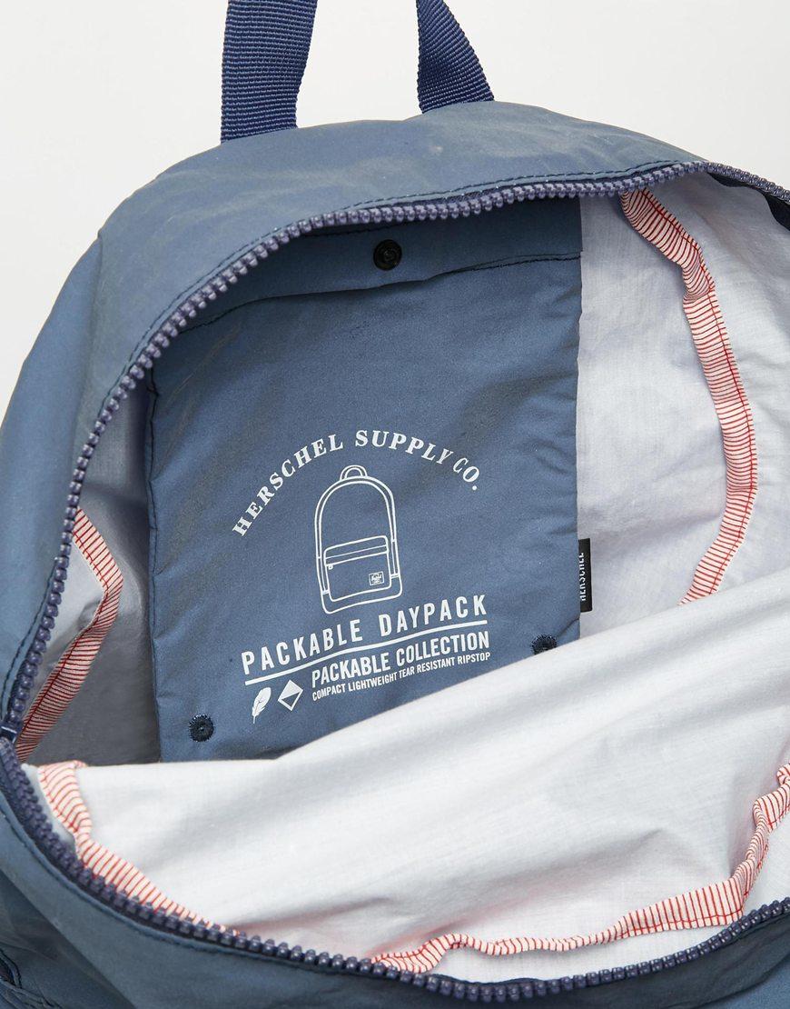 de557717df8 Lyst - Herschel Supply Co. Packable Reflective Backpack in Blue for Men
